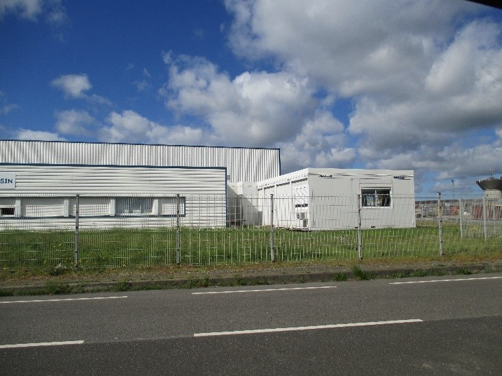 Extension en ossature bois du bureau du magasin de l'aviation à Saint-Nazaire (44)